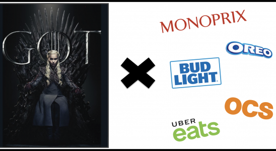 GAME OF THRONES OREO OCS MONOPRIX UBER EATS BUD LIGHT