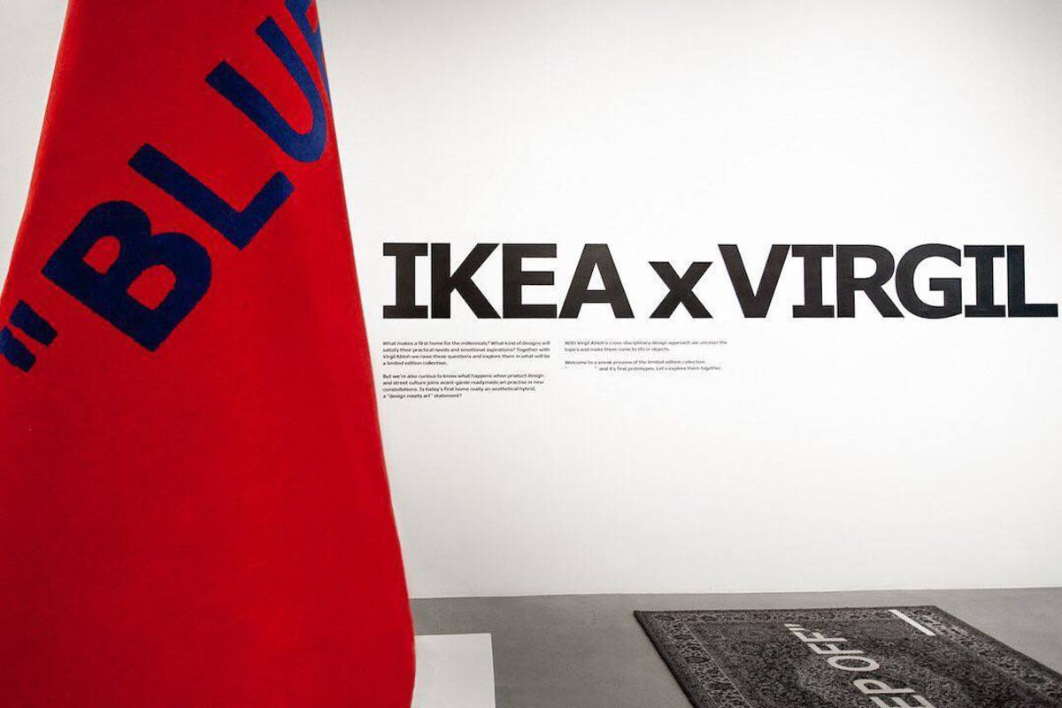 Photo de la collaboration de Virgil Abloh avec IKEA
