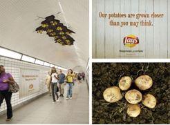 Lay's pommes de terre patates métro chips street marketing marques tendances