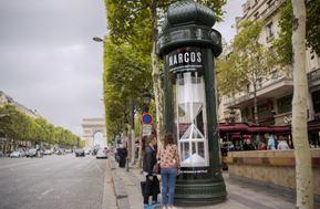 Netflix colonne publicité paris street marketing marques tendances