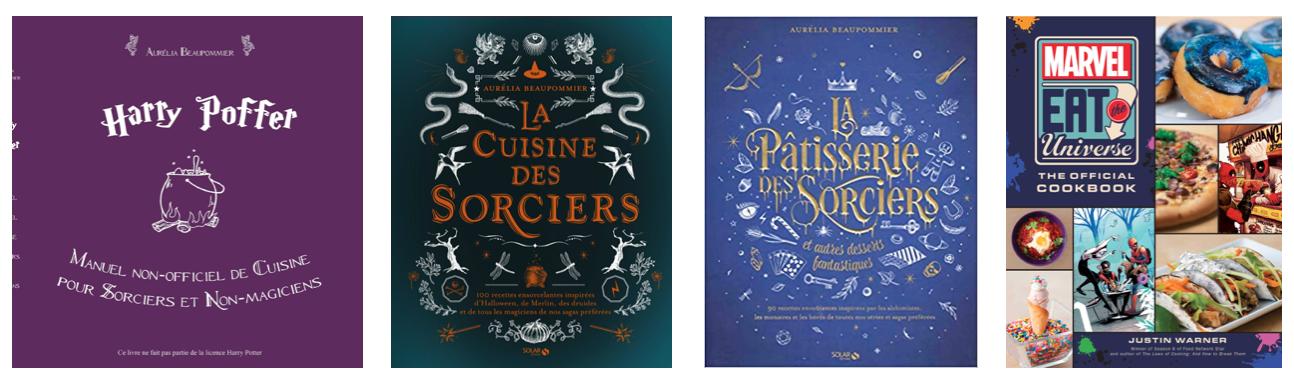 Livres de cuisine de sagas cultes