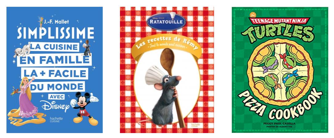 Livres de cuisines dessins animés
