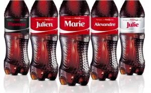 Personnalisation des bouteilles de coca-cola