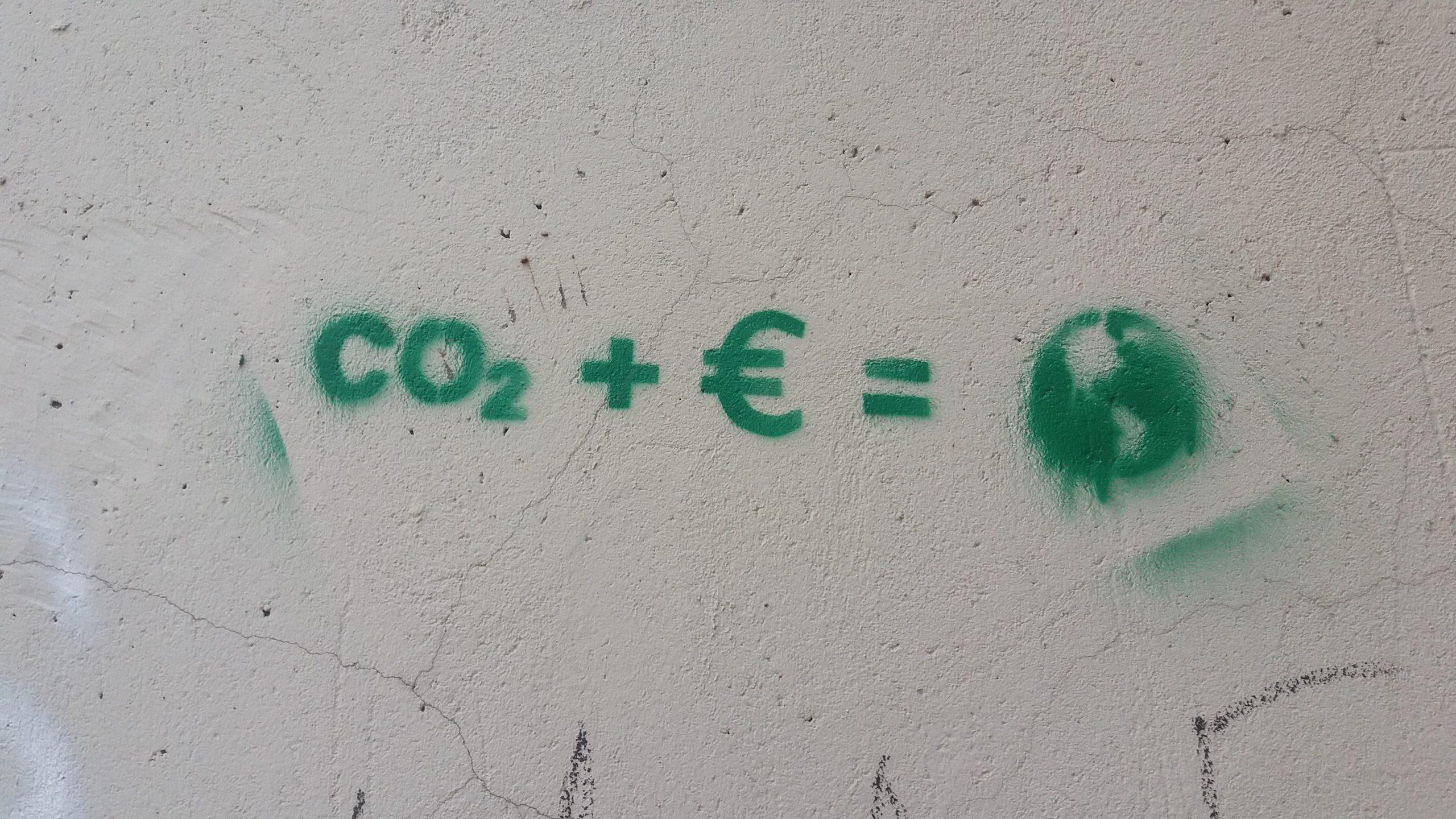 CO² + € = le monde d'aujourd'hui