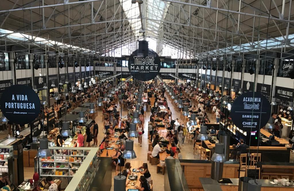 Timeout Market Lisbonne Food hall Portugal
