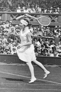 Suzanne Lenglen à Wimbledon, 1930