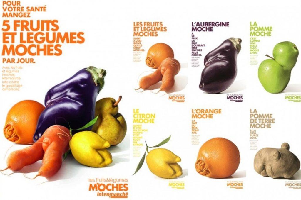 Gaspillage alimentaire : campagne Intermarché, fruits et légumes moches
