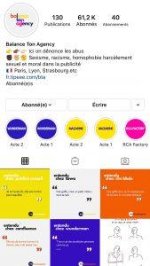 Compte Instagram Balance ton Agency