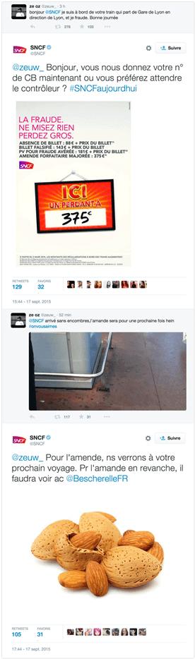 Réponse CM SNCF à des fautes de français