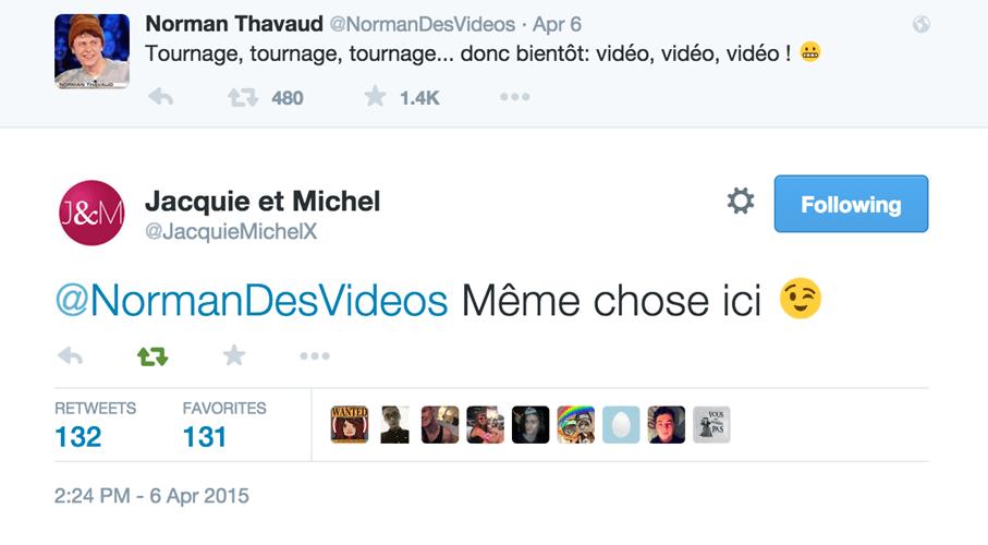 Réponse bien trouvée du CM de Jacquie et Michel