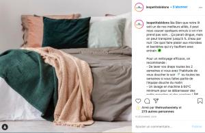 Publication Instagram Les Petits Bidons à forte valeur ajoutée