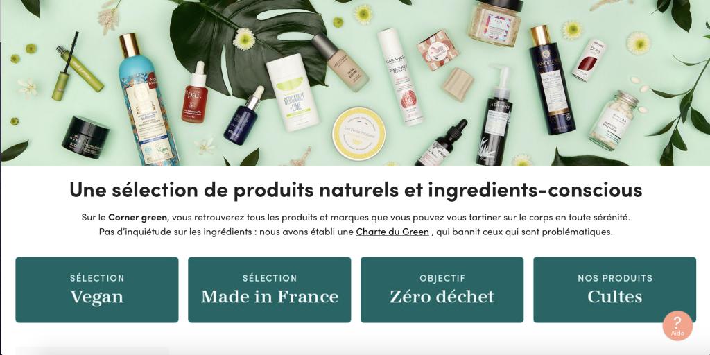 Présentation des produits Green