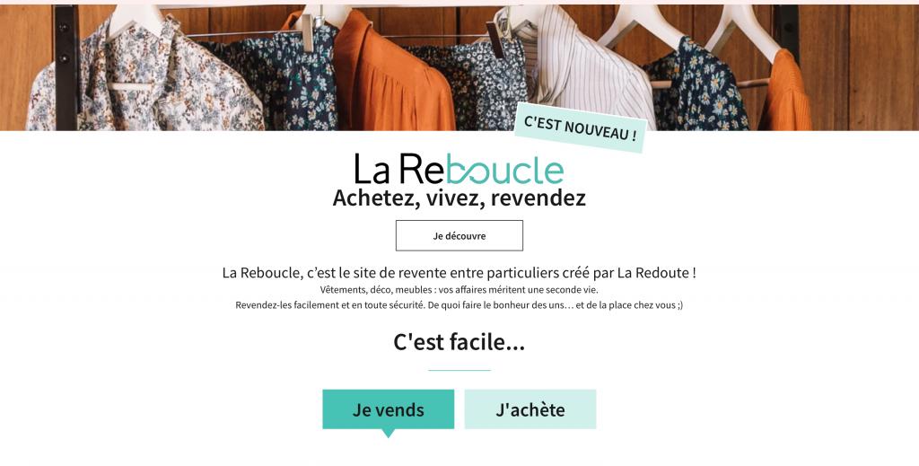 La Reboucle, site de revente La Redoute