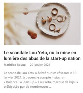 article blog scandale louyetu