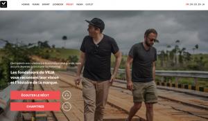 "Rubrique ""Projet"" - Site Veja"